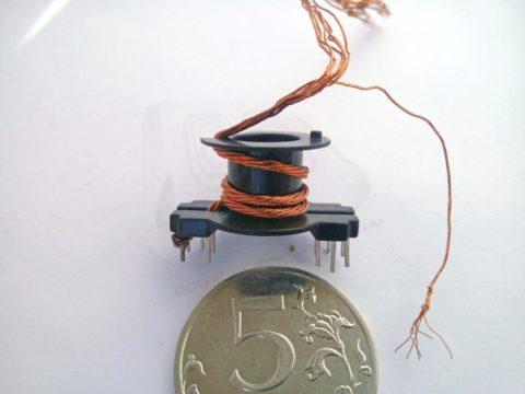Катушки с обмоткой из литцендрата